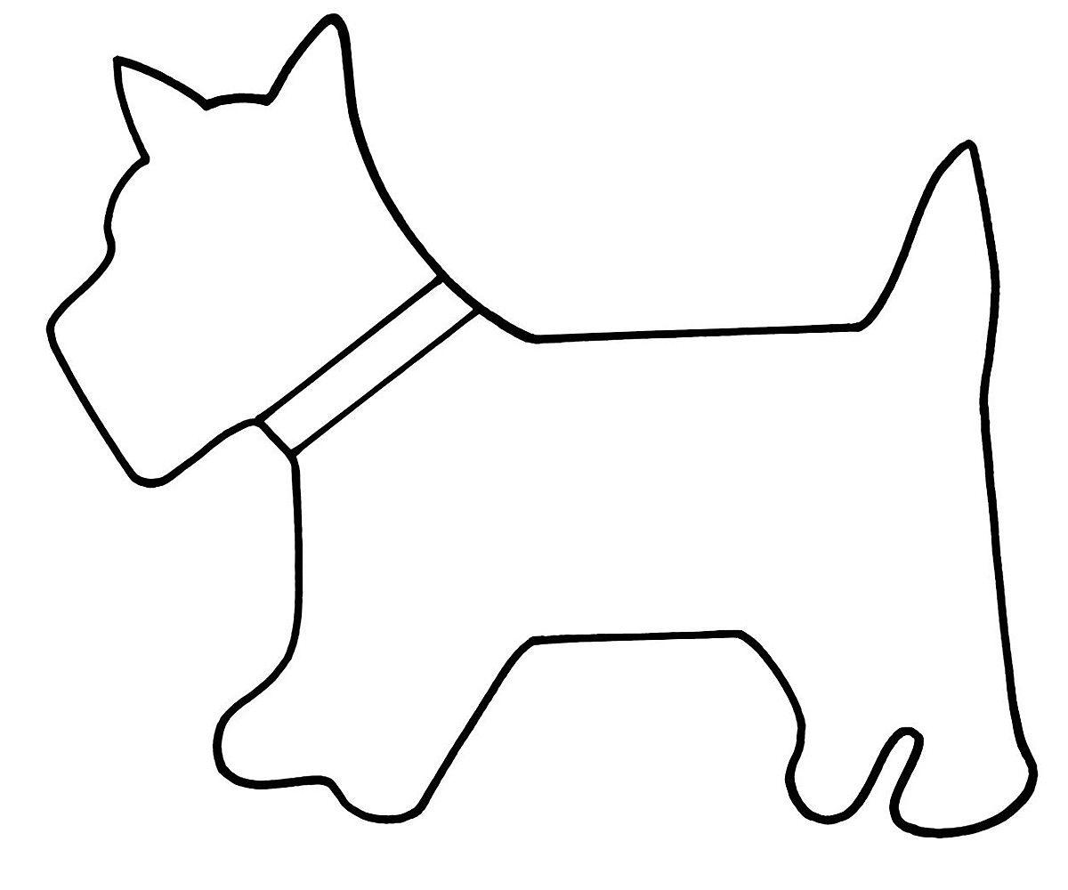 картинка собаки для аппликации были чуть