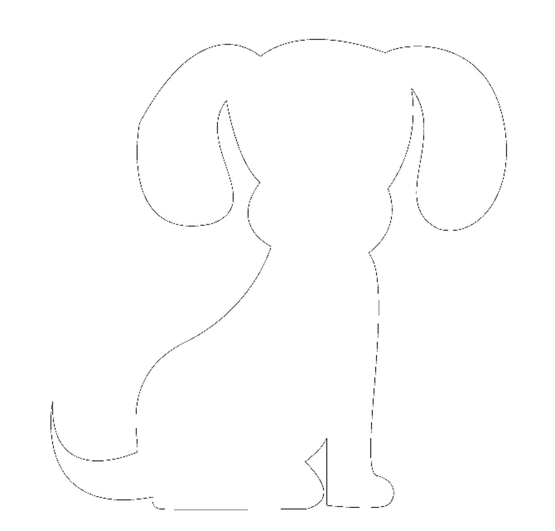 Шаблон для открытки щенок, девушка открытка