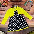 Платье летнее желтое с горошинам