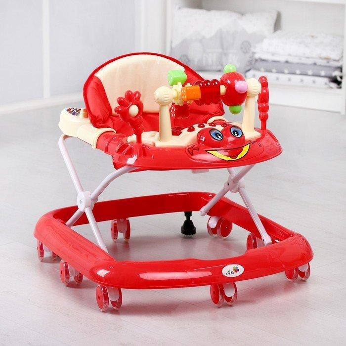 Красные ходунки для развития ходьбы ребенка